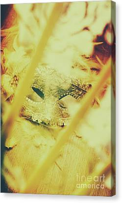 Hidden Face Canvas Print - Fanning The Drama by Jorgo Photography - Wall Art Gallery