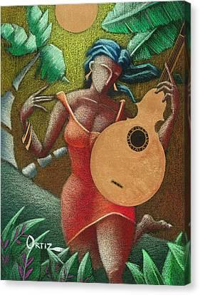 Puerto Rico Canvas Print - Fantasia Boricua by Oscar Ortiz