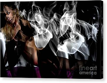 Fantasies In Smoke I Canvas Print by Clayton Bruster