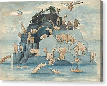 Ark Canvas Print - Fantastic Animals Left Off The Ark by Herbert Crowley