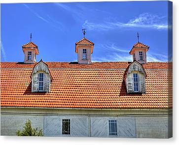 Fantastic Barn Roof With Dormer Windows And Cupolas Canvas Print by William Sturgell