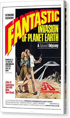 Fantastic Invasion Of Planet Earth 1966 Movie Poster Canvas Print by R Muirhead Art