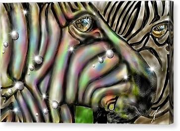 Fantastic Zebra Canvas Print