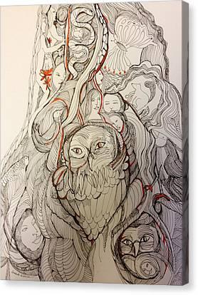 Fantastical Tree Trunk Canvas Print
