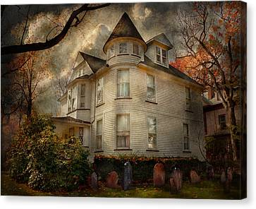 Fantasy - Haunted - The Caretakers House Canvas Print by Mike Savad