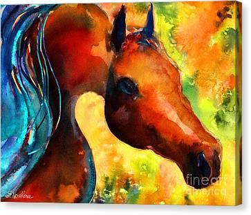 Arabian Horse Canvas Print - Fantasy Arabian Horse by Svetlana Novikova
