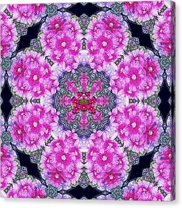 Fantasy Cherry Flower Mandala Pop Art  Canvas Print