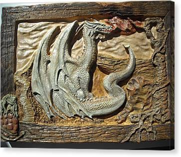 Fantasy Dragon Canvas Print by Doris Lindsey