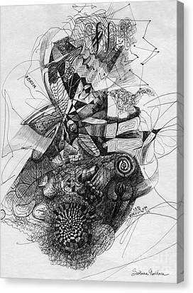 Fantasy Drawing 2 Canvas Print by Svetlana Novikova
