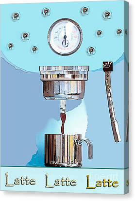 Fantasy Espresso Machine Canvas Print by Marian Cates