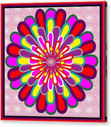 Surprise Canvas Print - Fantasy Flower Graphics Basics Used This Art To Creat A Lotus Flower Posted Elsewhere In My Gallery by Navin Joshi