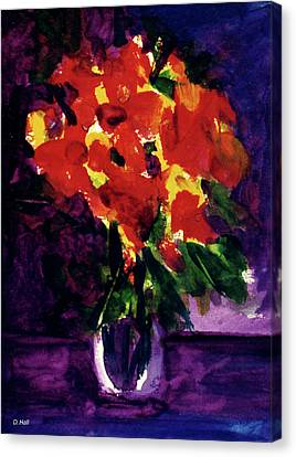 Fantasy Flowers  #107, Canvas Print by Donald k Hall