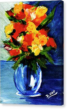 Fantasy Flowers #117 Canvas Print by Donald k Hall