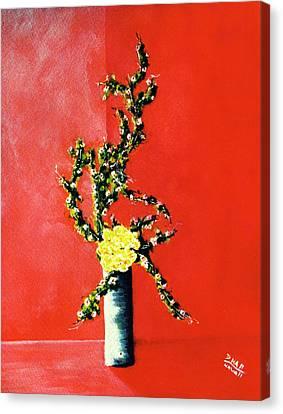 Fantasy Flowers Still Life #162 Canvas Print by Donald k Hall