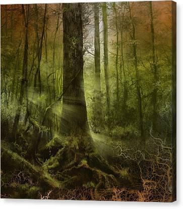 Surreal Landscape Canvas Print - Fantasy Forest 2 3 by Bekim Art