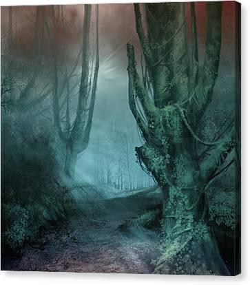 Surreal Landscape Canvas Print - Fantasy Forest 2 by Bekim Art
