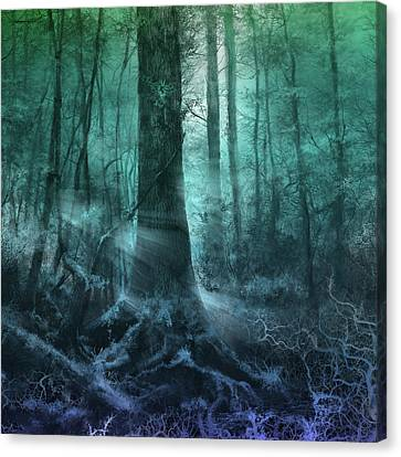 Surreal Landscape Canvas Print - Fantasy Forest 3 by Bekim Art