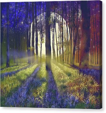 Surreal Landscape Canvas Print - Fantasy Forest 4 by Bekim Art