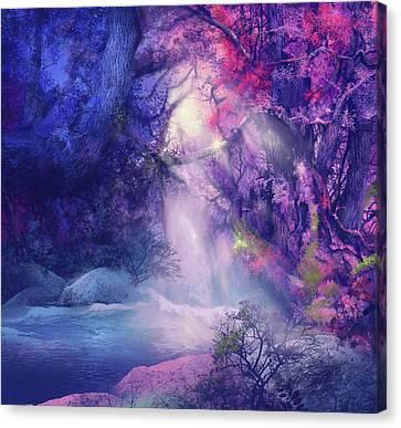 Surreal Landscape Canvas Print - Fantasy Forest 5 by Bekim Art