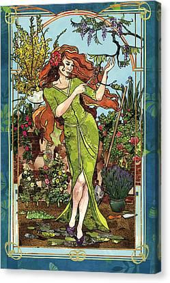 Fantasy Gardening Canvas Print by Robin Birrell