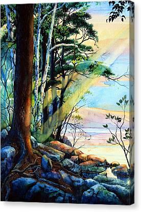 Fantasy Island Canvas Print by Hanne Lore Koehler