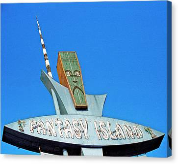 Canvas Print featuring the photograph Fantasy Island Sign by Matthew Bamberg