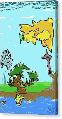 Fantasy Land Canvas Print by Jera Sky