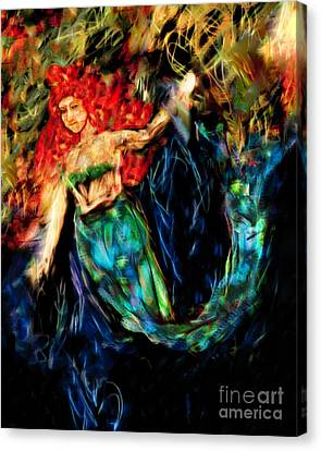 Fantasy Mermaid Canvas Print by Laura L Leatherwood