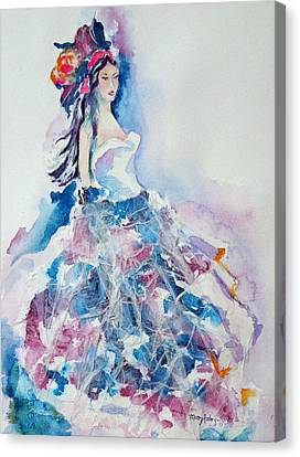 Canvas Print featuring the painting Fantasy Mist by Mary Haley-Rocks