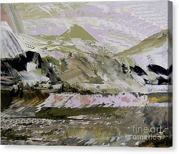 Painted Details Canvas Print - Fantasy Mountains 2 by Nancy Kane Chapman