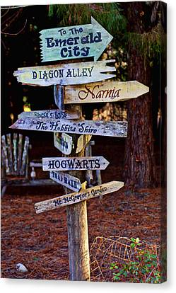 Fantasy Signs Canvas Print by Garry Gay