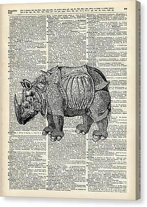 Fantasy Steampunk Rhinoceros Canvas Print