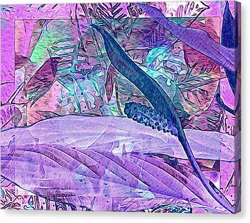 Fantasy With African Violets And Peace Lily 33 Canvas Print by Lynda Lehmann