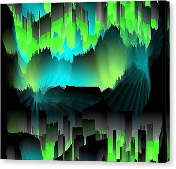 Canvas Print featuring the digital art Far Dreams by Dr Loifer Vladimir
