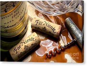 Far Niente Uncorked Canvas Print by Jon Neidert