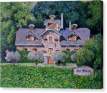 Far Niente Winery Canvas Print by Gail Chandler