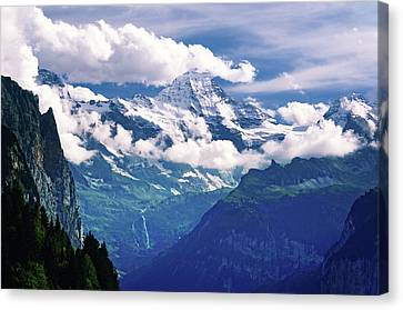 Far Over The Mountains Canvas Print