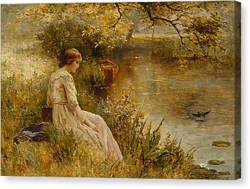 Faraway Thoughts Canvas Print by Ernest Walbourn