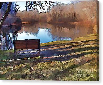 Canvas Print featuring the photograph Farewell Fishing by Betsy Zimmerli