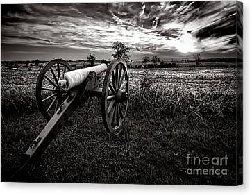 Civil War Site Canvas Print - Farewell To Gettysburg by Olivier Le Queinec