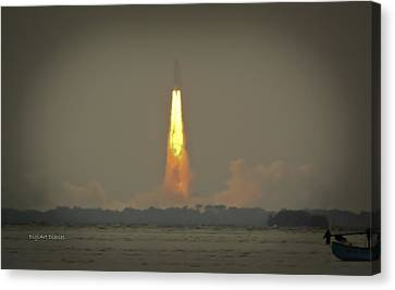 Atlantis Canvas Print - Farewell To Space Exploration by DigiArt Diaries by Vicky B Fuller