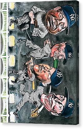 Farewell Yankee Stadium Canvas Print by Robert  Myers