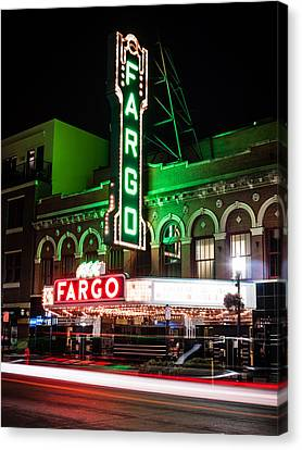 Fargo Nd Theatre At Night Picture Canvas Print by Paul Velgos