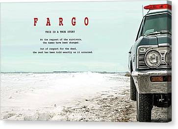 Fargo, This Is A True Story, Art Poster Canvas Print