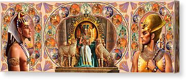 Farley Egyptian Triptych Canvas Print by Andrew Farley