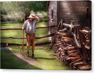 Farm - Farmer - Chores Canvas Print