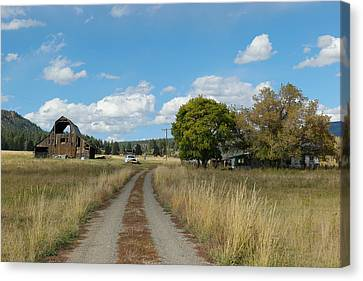 Farm At The End Of A Country Road Canvas Print