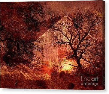 Farm Building In The Woods Canvas Print