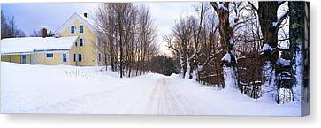 Farm Covered In Snow, Darling Hill Canvas Print by Panoramic Images