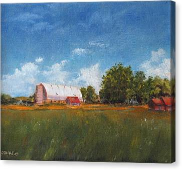 Canvas Print featuring the painting Farm by Diane Daigle